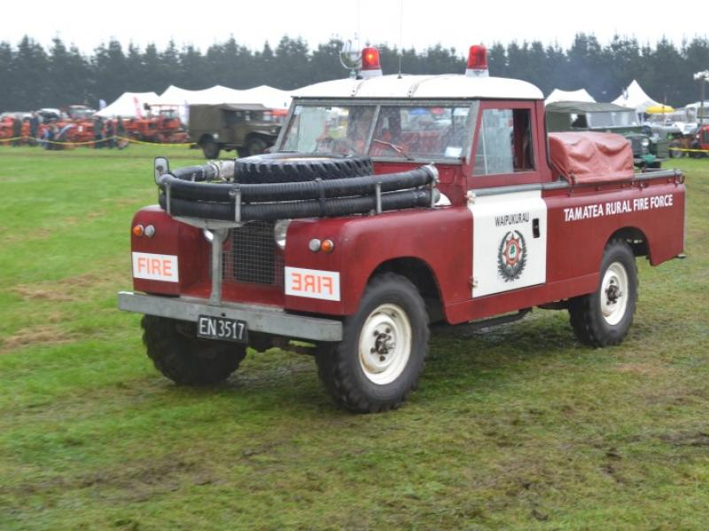 Land Rover display included several Fire Brigade conversions like this one.